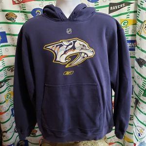 Reebok Nashville Predators Hoodie Sweatshirt M NHL